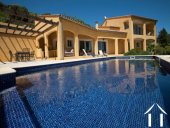Mediterranean villa with pool and views close to Orb river